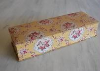 カルトナージュボックス BOX 黄色 お花柄 32x11cm〖202104-06〗