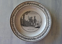MONTEREAU モントロー グリザイユ デザート皿 ルネサンスの騎士BAYARD