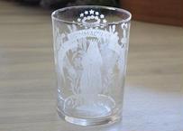 フランスアンティーク ルルドの聖母マリア ガラス製 グラス コップ