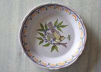 NEVERS ヌヴェール窯 鳥の絵付け皿