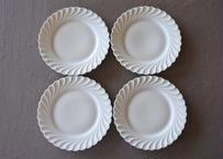 リモージュ アヴィランド 白いポーセリン ケーキ皿 16.2cm 4枚セット #1〖202109-20〗