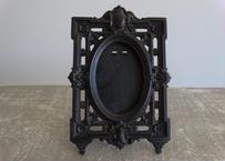 ナポレオン3世時代 ダゲレオタイプ 黒いフォトスタンド 額 16.8x10.9cm
