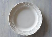 1800年 ボッホ ルクセンブルグ お花のレリーフ皿  24.3cm【2020DEC-093】
