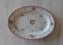18世紀 マルセイユ陶器 ポンパドール 小さなオーヴァル皿 ラヴィエ〖202105-01〗