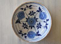 ☆GalerieiDeco☆ DELFT 18世紀 デルフト お花の絵付け ブルーカマイユ プレート
