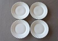 リモージュ アヴィランド 白いポーセリン ケーキ皿 16.2cm 4枚セット #2〖202109-21〗