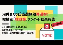 【録画視聴チケット】2021/4/11 河井あんり氏当選無効再選挙! 候補者「核政策」アンケート結果報告