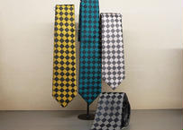 手織り博多織の市松ネクタイ(桐箱入り)
