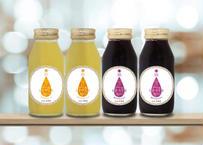 【一部エリア送料無料】北海道余市産・果汁100%プレミアムジュース4本セット(アップル・グレープ 各2本)