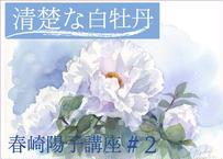 『 春崎陽子動画講座 #2』 清楚な白牡丹