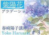 『 春崎陽子動画講座 #3』 グラデーションで描く紫陽花