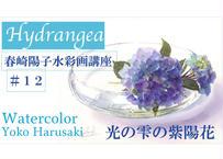 春崎陽子講座#12『 光る雫の紫陽花』