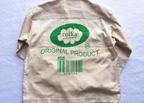 ROIKA/コットンロゴジャケット/ホワイト