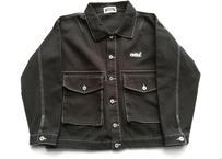 ROIKA/BIGサイズショート丈ジャケット/ブラック