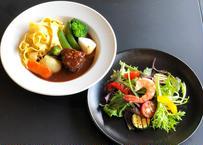 【季節のお料理】黒毛和牛ほほ肉のビーフシチューSET (2名様)