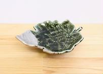 深緑プラチナ葉形布目向付