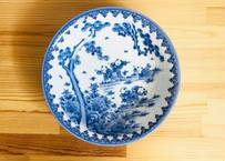 [陶器市]伝統工芸士作品染付5人手描き唐子絵24㎝盛鉢(1点もの)