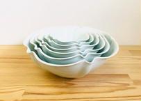 青白磁3寸~7寸輪花鉢セット