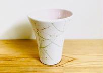 内ピンク掛釉ビアカップ