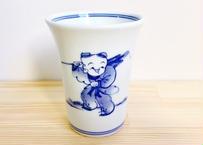 [陶器市] 染付唐子絵フリーカップ