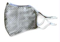 息がしやすい洗える夏用布マスク【綿100%】立体ガーゼマスク(星・グリーン) 長さ調整ストッパー式 サイズ(約)24㎝×14㎝