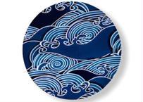 【有田焼】錦銀渦紋30㎝丸プレート皿