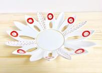 赤一珍英文字丸紋輪花鉢