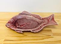 [陶器市]トルコマロン釉鯛型27.5cm皿