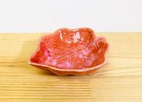 うのふ(赤) 木の葉型松花堂鉢