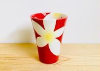 錦花美人(赤)ビアカップ