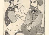 渡邉 みよ子『パリの街角にて-B~ロートレックとルドン~』