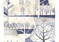 植田 しげ子『木々の散歩道』