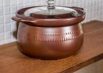 土鍋_直火用レトロな土鍋/アンティークな雰囲気!ポトフにごはん炊き用に
