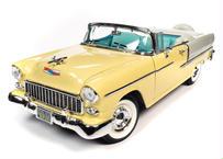 【予約】American Muscle 1/18 1955 シェビー ベル エアー コンバーチブル ハーベストゴールド/アイボリー 22年1月