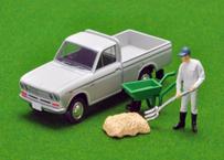 【予約】トミーテック トミカリミテッドビンテージネオ1/64LV-195c ダットサン トラック 1300デラックス(白)フィギュア付 3月