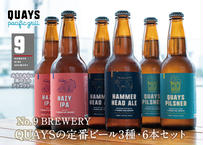 No.9 BREWERY ボトルクラフトビール・人気の3種[各2本] 6本セット