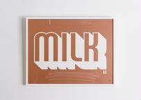House Industries×I'M OK ポスター作品 (MILK) ; 3333340084377