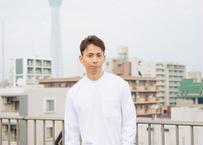 ZA TOKYO ベーシッククルーネック ロングTシャツ ハイネック ポケット付き