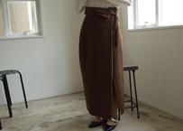 Frap long skirt  Brown