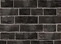 壁紙シール2.5M|【黒レンガ】