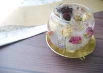 《花遊びキャンドルホルダー》ローズブーケ