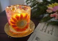 《楽園キャンドルホルダー》君と見るレトロな夕焼け(オレンジガーベラ)