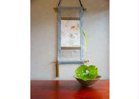 夏掛け軸キット(金魚) 小56x27