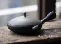 淳蔵黑白渐变極平扁平壶急須 JUNZO  Black Gradation Gokuhira Flat Teapot KYUSU