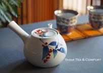 香蘭社白磁大急須茶壺 White Porcelain Big Teapot Kyusu