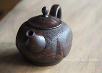 常滑香臣藻挂大理石风格壶急須 KOSHIN Black Red Mable Seaweed Teapot KYUSU