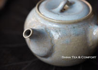 Hakusan 白山急須,  Soft grey and brown Side Handle Japanese Tokoname Ceramic Teapot Kyusu