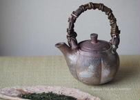 急須Bizen Pumpkin Top Handle Ceramic Kyusu Teapot