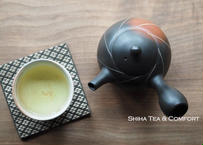 常滑烧素三朱泥熏黑壶急須 Motozo Red Clay Smoke Black Teapot Kyusu