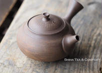 [T01] 陶寿仿木质茶壺急須 TOJU Wood like Pottery Teapot KYUSU